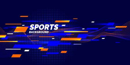 Ilustración de Modern colored poster for sports. Vector illustration - Imagen libre de derechos