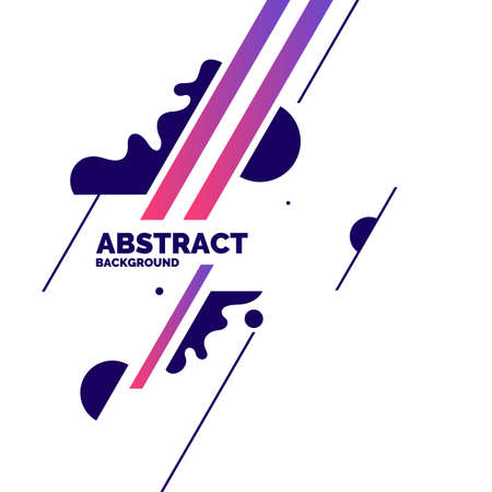 Illustration pour Trendy abstract background. Composition of amorphous forms and lines. Vector illustration - image libre de droit