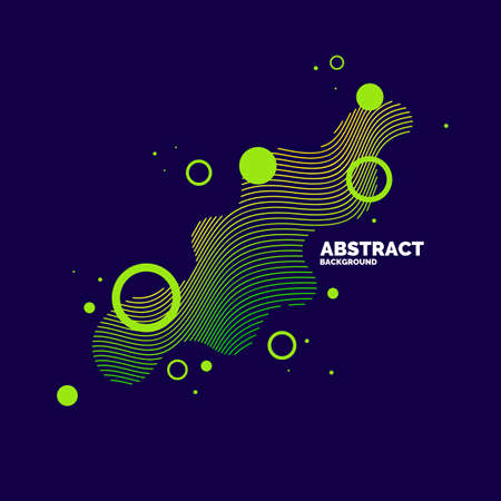 Vector abstract elements with dynamic waves. Illustration suitable for design