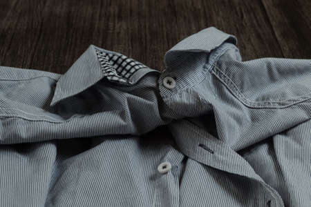 The collar of the shirt