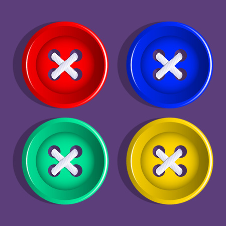 Buttons. Set of multicolored buttons. Vector illustration