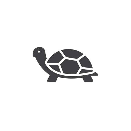 Illustration pour Turtle icon vector, filled flat sign, solid pictogram isolated on white. Symbol, logo illustration - image libre de droit