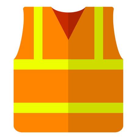 Road vest safety jacket flat icon, vector sign, colorful pictogram isolated on white. Symbol, logo illustration. Flat style design