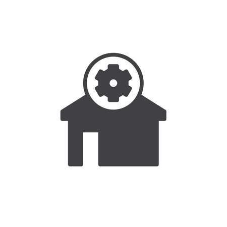 Home settings icon vector, filled flat sign, solid pictogram