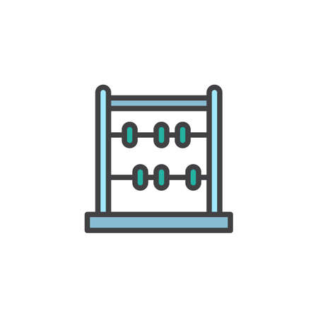 Abacus filled outline icon, line vector sign, linear