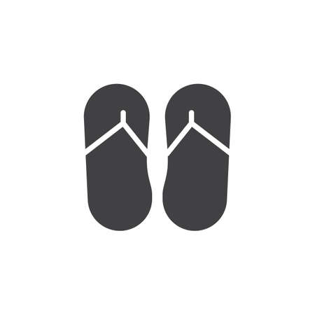 a33ed2bf0f3196 Flip flops vector icon. Filled flat sign for mobile concept and web design.