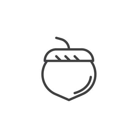 Illustration pour Acorn outline icon. linear style sign for mobile concept and web design. oak tree acorn simple line vector icon. Symbol, logo illustration. Pixel perfect vector graphics - image libre de droit