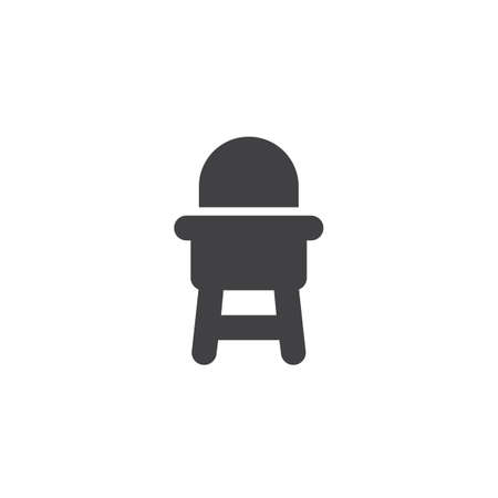 Baby Chair Vector Icon Filled Flat Sign For Mobile Concept And