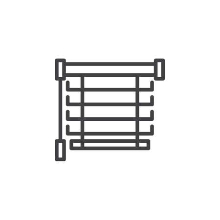 Illustration pour Window blinds line icon. Louvers linear style sign for mobile concept and web design. Jalousie outline vector icon. Symbol, logo illustration. Pixel perfect vector graphics - image libre de droit