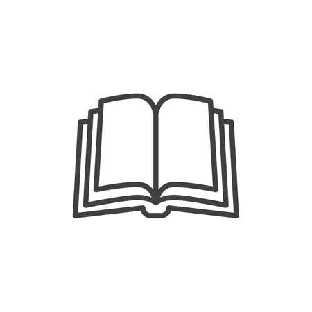 Illustration pour Book pages line icon. linear style sign for mobile concept and web design. Open book outline vector icon - image libre de droit