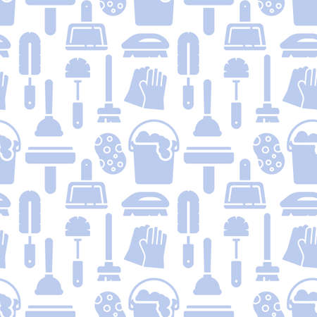 Illustration pour Housework, cleaning icons pattern. Cleaning service seamless background. Seamless pattern vector illustration - image libre de droit