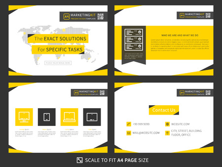 Corporate Presentation Vector Template Modern Business