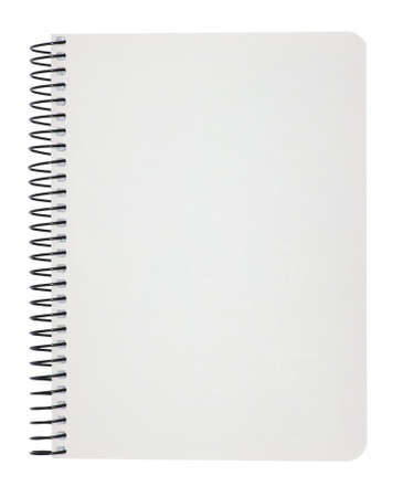 Photo pour blank notebook isolated on white  - image libre de droit