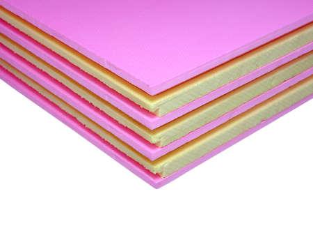 styrofoam tables pile corner, construction materials