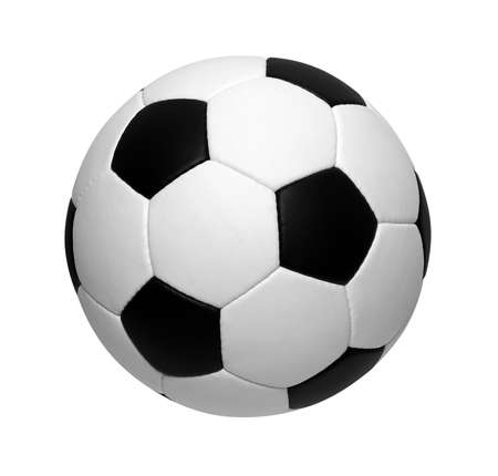 Foto de soccer ball isolated on white - Imagen libre de derechos