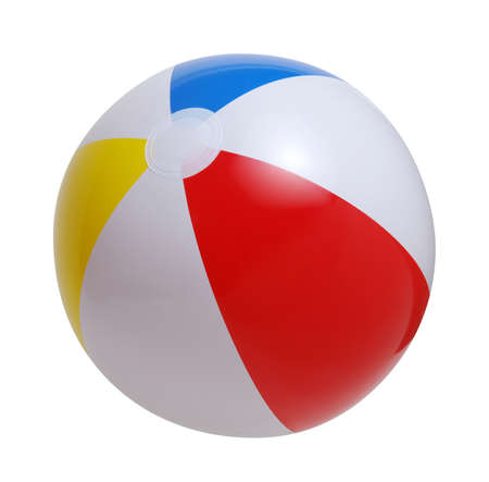 Photo pour Beach ball isolated on a white background - image libre de droit
