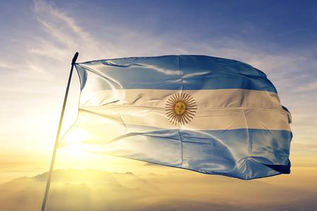Argentina flag textile cloth waving
