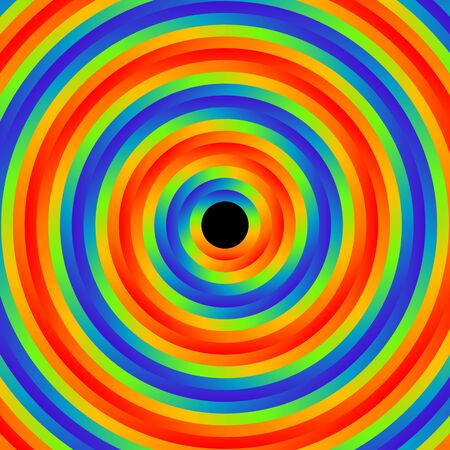 background of psychedelic color circles illustration