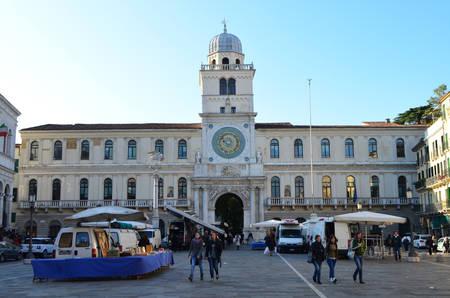 Front of Palazzo del Capitanio from Piazza dei Signori in Padua, Italy