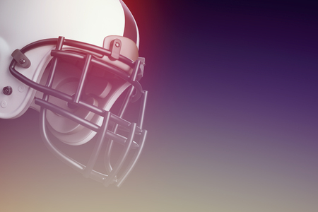 Photo for Superbowl american football match helmet in front of black background - Royalty Free Image