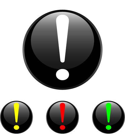 Exclamation symbol icon, isolated on white background