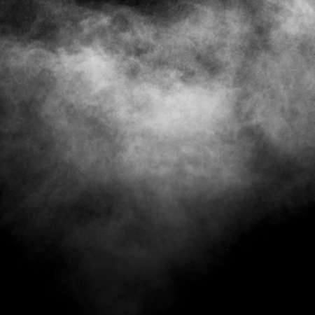 Photo for Smoke, steam, vape isolated on black background, looks like a cloud. Abstract background, design element. - Royalty Free Image