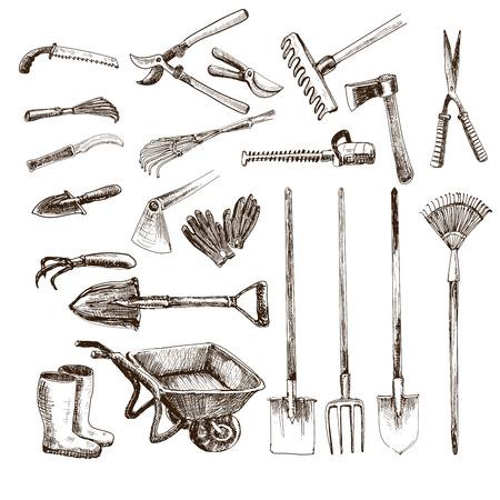 Illustration pour Garden tools - image libre de droit