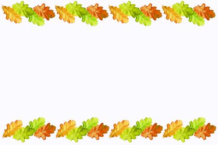 Photo pour Leaves isolated on white background. Golden autumn - image libre de droit