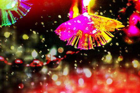 Photo pour Blurred festive background. Abstract holiday Christmas card.  - image libre de droit