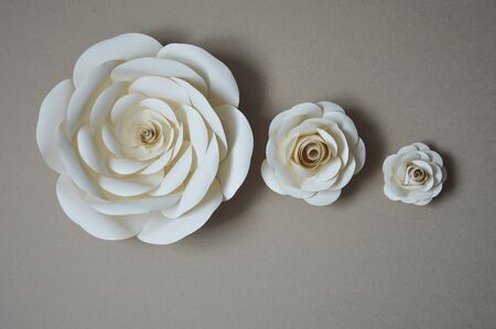 Photo for Paper flowers for wall and interior decoration. The flowers are handmade. - Royalty Free Image