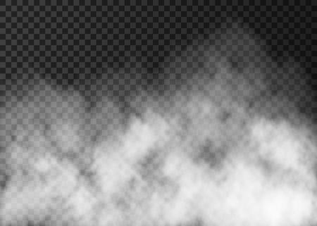 Illustration pour White smoke texture isolated on transparent background. - image libre de droit