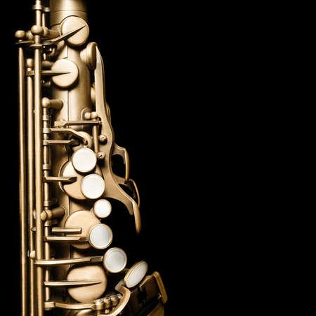 Photo pour Saxophone Jazz Music Instrument Alto Sax isolated on black - image libre de droit