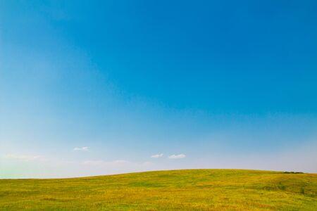 Foto de Summer landscape with clear sky. Copy space - copyspace. - Imagen libre de derechos
