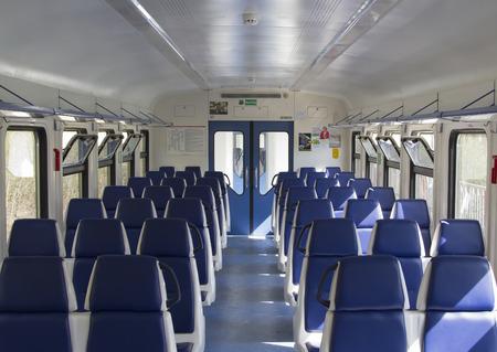 Empty seats a commuter train