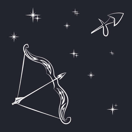 Sign of the zodiac Sagittarius is the starry sky