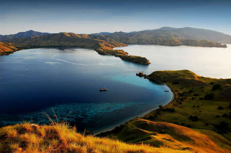 Komodo island in indonesia sunset