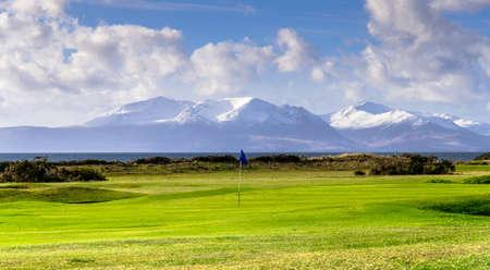 Portencross golf course in Scotland  Isle of Arran