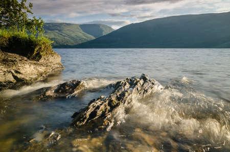 Wave at Loch Lomond in Scotland