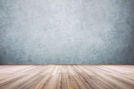 Photo pour laminate and concrete wall, view of an empty room - image libre de droit