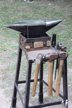 Anvil and sledgehammers, the tools of a forger
