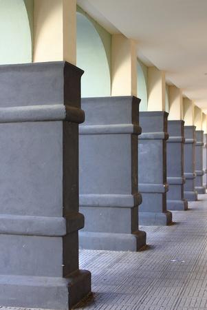 Columns of a modern portico