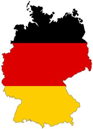 Photo pour Map of Germany with official flag colors - image libre de droit