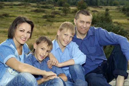Photo for happy nice family - Royalty Free Image