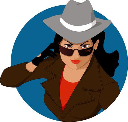 Vektor für Secret agent girl - Lizenzfreies Bild