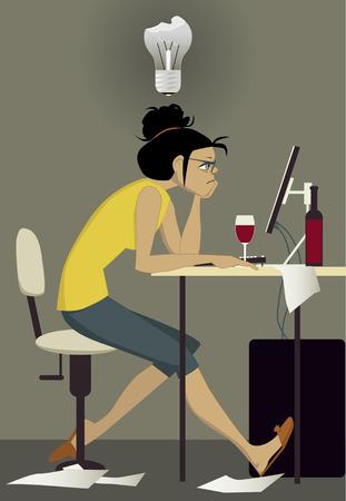 Writer on work