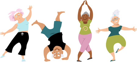 Photo for Senior people doing yoga - Royalty Free Image