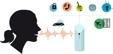 Illustration pour Voice assistant, EPS 8 vector conceptual illustration - image libre de droit