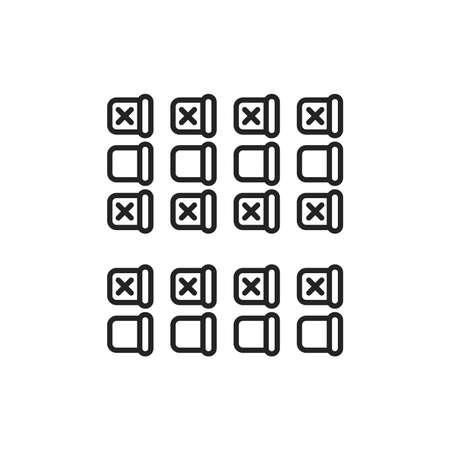 Illustration pour Seating on the plane black line icon. Safe travel. Pictogram for web, mobile app, promo. UI UX design element - image libre de droit