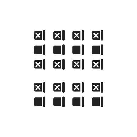 Illustration pour Seating on the plane black glyph icon. Safe travel. Pictogram for web, mobile app, promo. UI UX design element. - image libre de droit