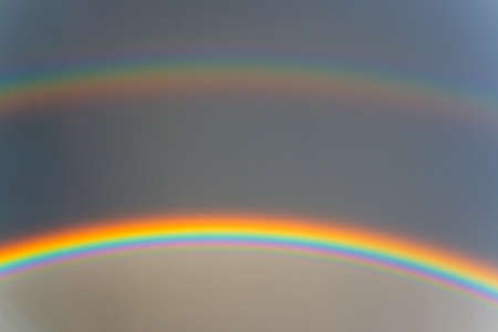 Only a double rainbow and sky. A natural phenomenon.